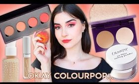 FULL FACE USING COLOURPOP MAKEUP | Peachy Spring Makeup Tutorial