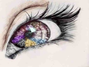 cool drawing of an eye