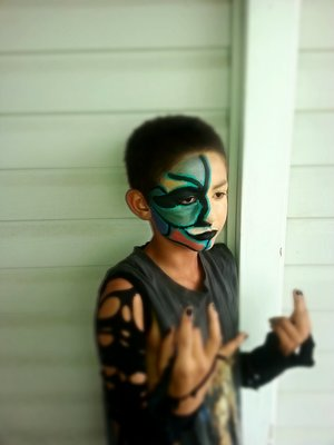 my sons dream ever since he could talk is to be in the wwe this look inspired by jeff hardy (: