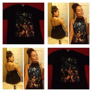 I never throw away my boring tee shirt.so I mage my tee shirt sexy n fun to wear..