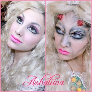 For this look, I kinda hold it dear to my heart. I was asked to be apart of a Demon Princess collab on Instagram with a couple of gorgeous and talented ladies and I thought a cool concept would have been Princess Peach turning into a demon, resulting Mario to fight her off in the final battle.  This tutorial/video I'm proud of and something I took a bit more time on. The decision of doing the Before/After came last minute while editing and I think it really pulled the concept and storyline together.    PRODUCTS USED Hard Candy Sheer Dark Spot Corrector Face Primer Fake Flesh (can't remember where from)  Liquid Latex by Cinema Secrets Hard Candy Ten Shadow Palette in Smoked Out Elizabeth Arden Black Velvet Pencil Liner Essence White Eyeliner Pencil  Lancome Noir Liquid Liner Ice Cream Eraser Tops made into HORNS  Kat Von D Backstage Bambi Liquid Lipstick