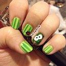 Keroppi Nail Art!!