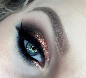 Another view of my previously posted look :)! This really exemplifies the smoked out effect well and shows all the dimensions present in Glitter Injections Cheetah Print glitter. Be sure to check out my blog post for a step by step photo w/ a description!  http://theyeballqueen.blogspot.com/2016/03/sexy-smokey-bronze-and-black-glittery.html