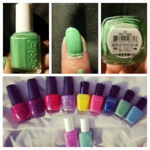 "Essie "" First Timer "" I love it its like a mint <3 pretttty preetttty <3"