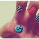 anchor/nautical nails !!