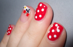 Hello Kitty with CND Shellac Wildfire, Cream Puff & Negligee