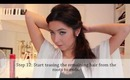 How to: Elegant hair updo with hair combs inspired by 'KARADAYI'