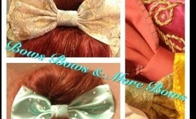 How to make a bow//DIY//Bows, Bows and More Bows//Easy to make