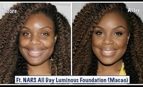 Foundation Routine ft.  NARS All Day Luminous (Macao) | w/Natural Highlight & Contour