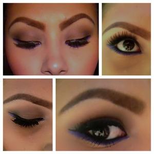 Purple eyeliner ;)