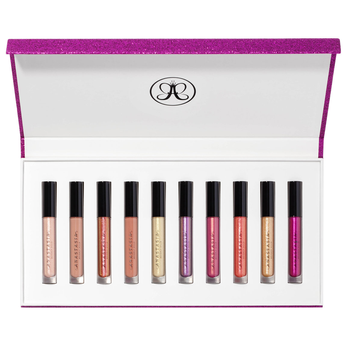 10 full-size shades of Anastasia Beverly Hills Lip Gloss (a $160 value)