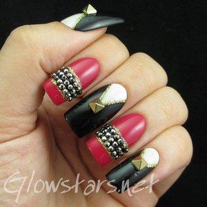 Read the blog post at http://glowstars.net/lacquer-obsession/2015/05/black-white-series-elegant-nail-art-show-nmc-black-040-nmc-black-054-nmc-red-080/