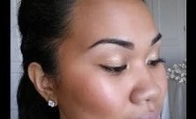 How to look dewy.  Full facial application.