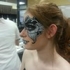 Black And White Masquerade Look