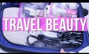 TRAVEL BEAUTY : MAKEUP AND HAIR PRODUCTS I HOW TO PACK FOR A TRIP! | SCCASTANEDA