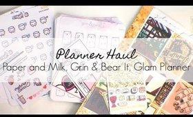 Planner Haul: Grin and Bear It, Paper and Milk, Glam Planner | yukieloves // warmvanillasugar0823