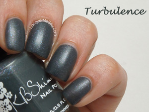 "KBShimmer Fall 2013 ""Turbulence"". More info can be found on my blog post: http://www.lacquermesilly.com/2013/08/26/kb-shimmer-fall-2013-collection-review/"