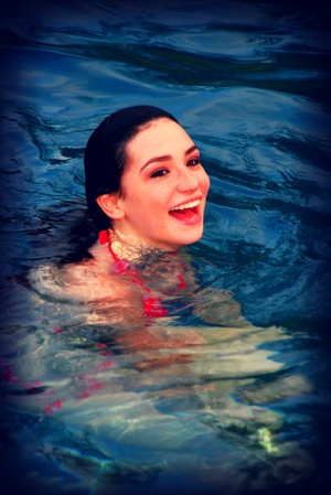 After a photo shoot that involved a pool I got to jump in and cool off!