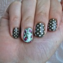 Polka dots and vintage roses
