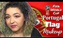 Portugal Flag Inspired Makeup Tutorial -Fifa World Cup- (NoBlandMakeup)