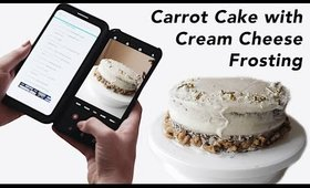 Carrot Cake & Cream Cheese Frosting with LG Dual Screen | Olivia Frescura