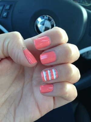 coral & stripes