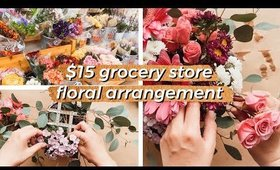 How to Make a DIY Floral Arrangement   BUDGET Flower Design for UNDER $15! Easy Step-by-Step Process