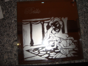Belle from Beauty & the Beast! Another etching I did this time for my vocal coach who played Belle in a local play