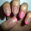 Neon Pink & Grey
