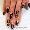 Black nails with gold studs