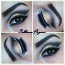 Gold Arabic wing eyes