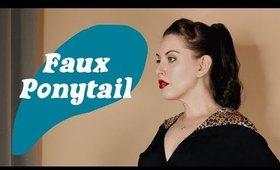 Hide Your Bangs! Quick Faux Ponytail
