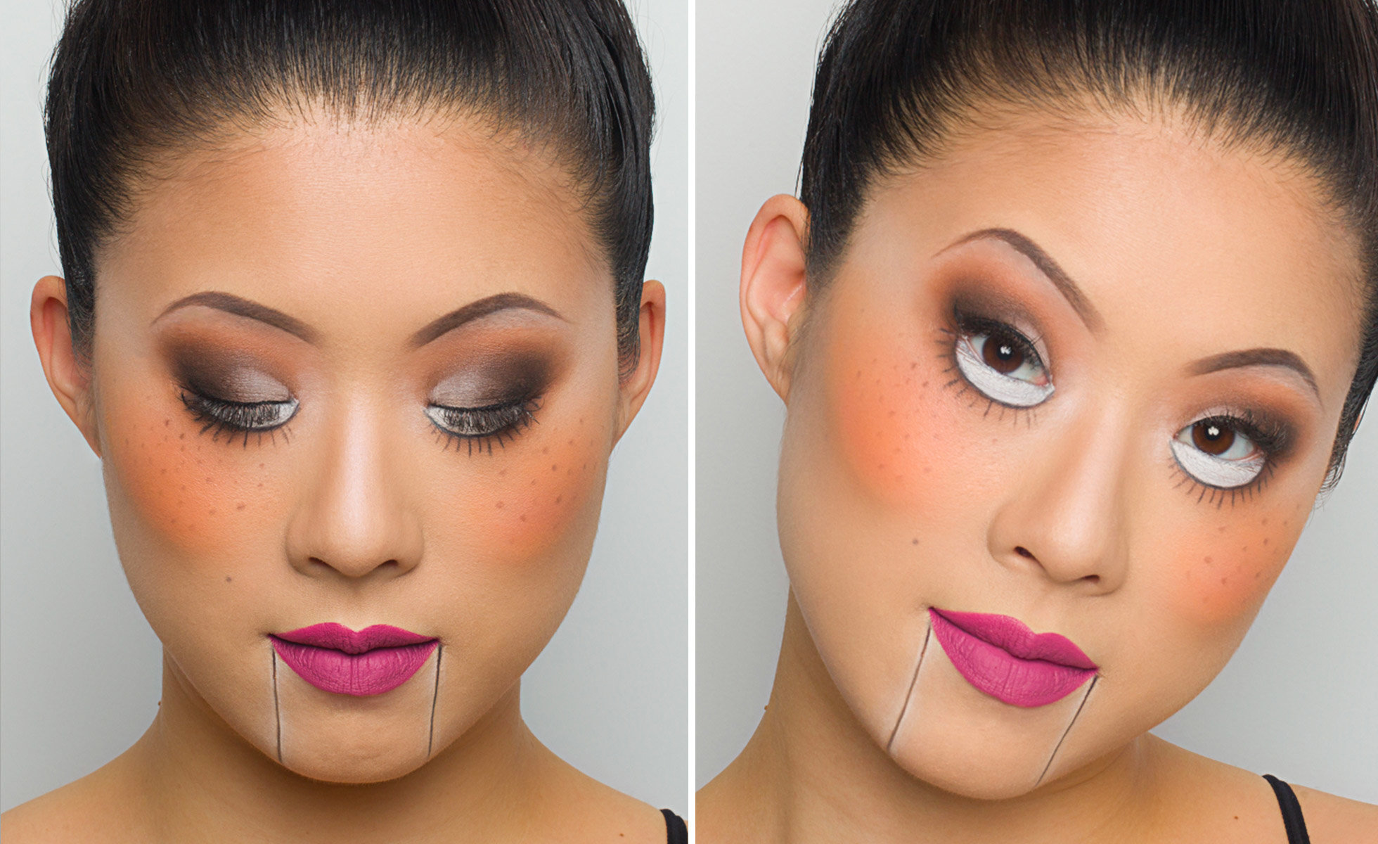 Halloween Looks With Everyday Makeup.Create 5 Last Minute Halloween Looks Using The Soft Glam