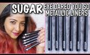 *NEW* SUGAR EYE DARED YOU SO METALLIC LIQUID LINERS | SWATCHES & REVIEW | 6 Shades | Stacey Castanha