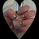 Nude with Metallic Dots