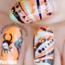 Water Marble Halloween Nail Art