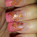 Rose Gold Foil With Pink Tips