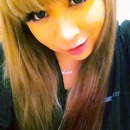 Straight Hair , Green Color Lenses