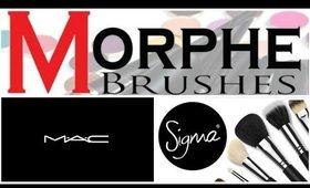 Favorite Makeup Brushes - Mac, Morphe and Sigma