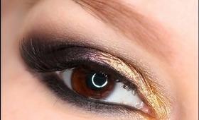 Golden Smokey Eye makeup