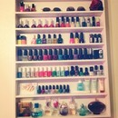 Home Made Nail Polish Rack