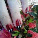 Lady Bug Nail Design