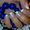 French  Nails With Blue