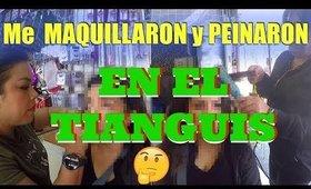 Maquillaje y Peinado en el TIANGUIS /  Flea Market makeup & hairstyle | auroramakeup