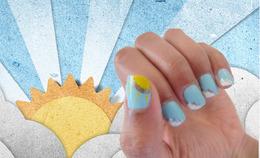 How To: Blue Sky Manicure