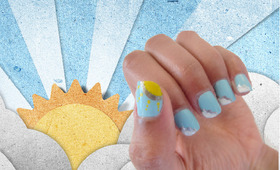 How To: Blue Sky Manicure