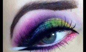 Rainbow glitter tutorial
