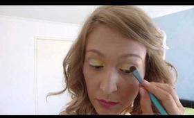 Hula girl makeup tutorial