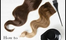 How to dye your Hair Extensions DIY