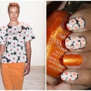 Peter Som Spring 2014 Inspired Nail Art